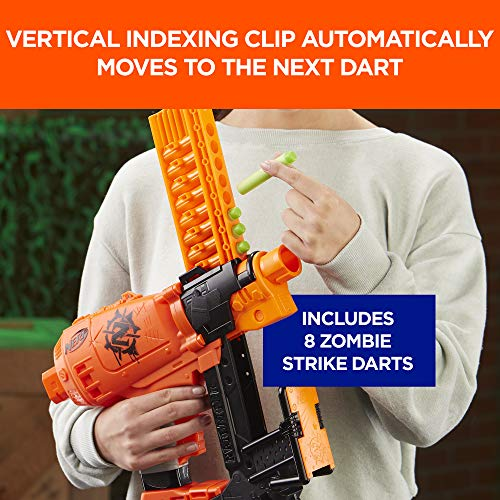 517odSDSCNL - Nerf Nailbiter Zombie Strike Toy Blaster – 8 Official Zombie Strike Elite Darts, 8-Dart Indexing Clip – Survival System – for Kids, Teens, Adults