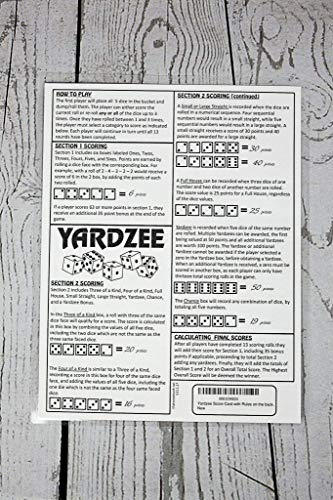 image relating to Yardzee Rules Printable called YARDZEE Rating CARD with Tips upon the again- Laminated Yardzee