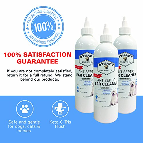 Stuart Pet Supply Co.. Antiseptic Ear Infection Treatment For Dogs-Veterinary Formulated-Veterinary Recommended For Head Shaking, Itching, Discharge & Smelly Ears 100% 12oz. by Stuart Pet Supply Co. (Image #4)
