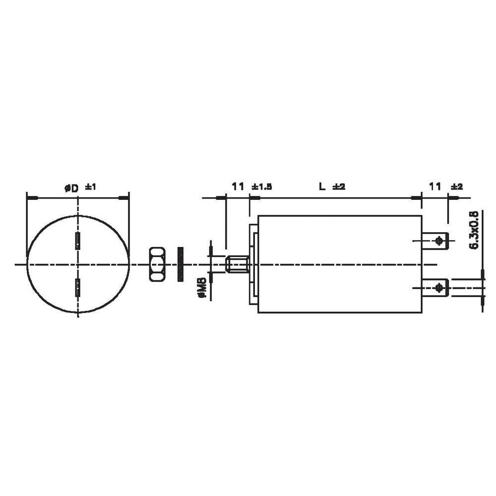 KONDENSATOR MK 30 UF 45X71 FLACHSTECKER