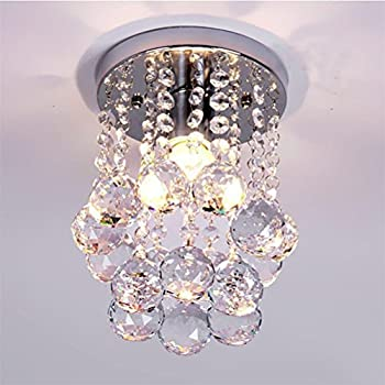 Mini modern crystal chandeliers flush mount rain drop pendant ceiling light for girls roombedroom