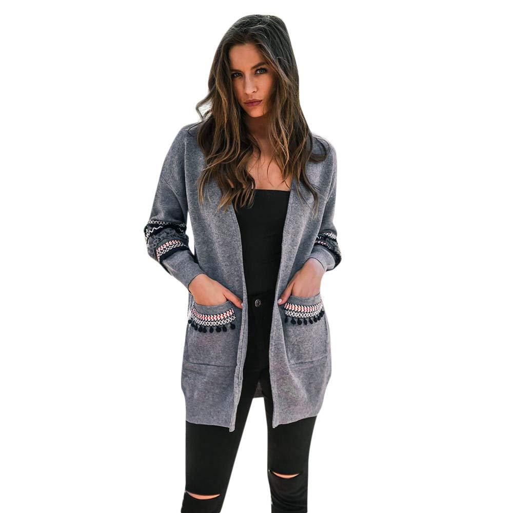 Blousons Femme CIELLTE Blazer Cardigan Automne Hiver Bohême Frange Veste Manteau Outwear Décontracté Épais Outercoat Couleur Unie Chic