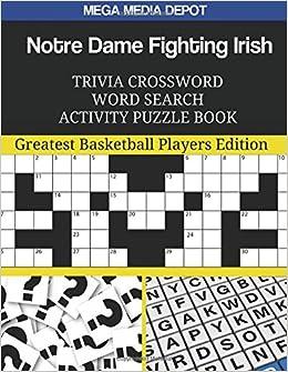 Notre Dame Fighting Irish Trivia Crossword Word Search