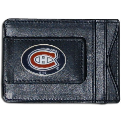 NHL Montreal Canadiens Genuine Leather Cash and Cardholder (Card Feat)