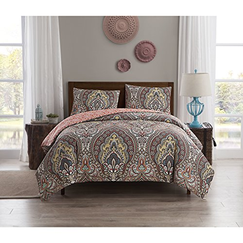 VCNY Home PC0-2DV-Twxt-in-MU Duvet Cover Set, Twin/X-Large, ()