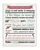 Stupell Home Décor This Is Your Life Infographic Style Inspirational Art Wall Plaque, 10 x 0.5 x 15, Proudly Made in USA