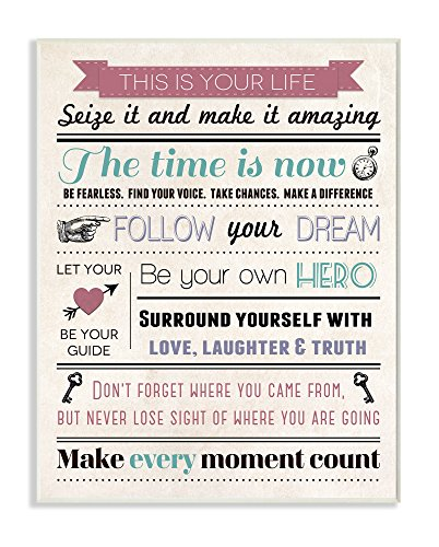 - Stupell Home Décor This Is Your Life Infographic Style Inspirational Art Wall Plaque, 10 x 0.5 x 15, Proudly Made in USA