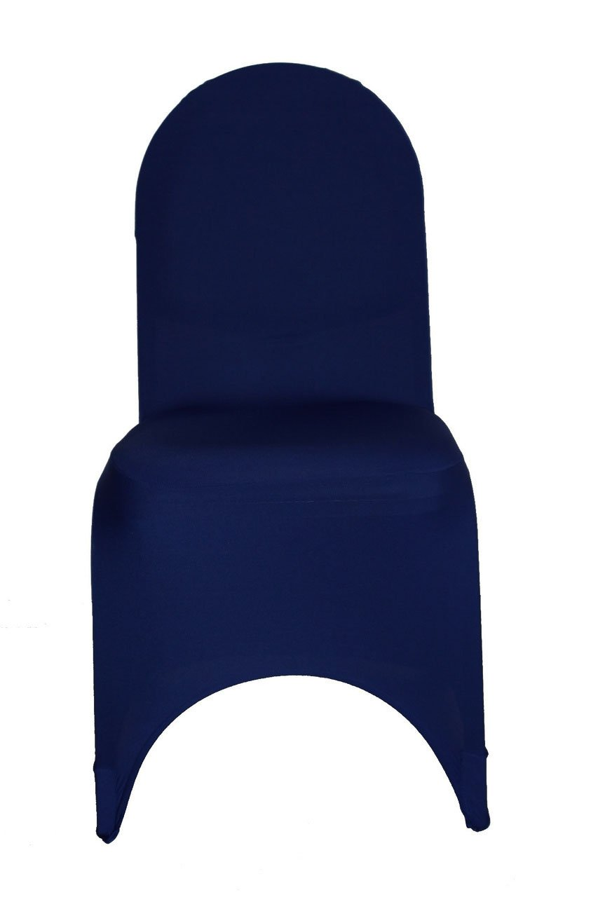 YCC Linen - 100 Pack Stretch Spandex Banquet Chair Covers - Navy Blue