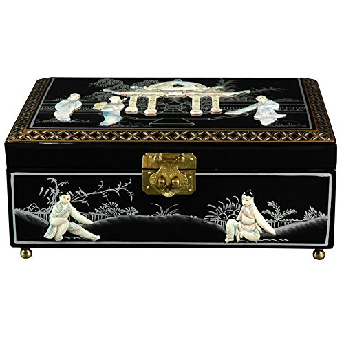Oriental Furniture Clementina Jewelry Box - Black
