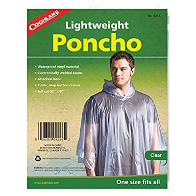 Coghlan's Lightweight Waterproof Poncho, Clear : Rv External Supplies : Automotive