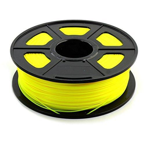 eDealMax PLA Universal 1.75mm 1 kg 2,2 libras 3D de filamentos de impresora 20 x 6 cm Amarillo Sunlu Autorizado