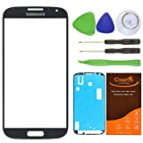 CrazyFire® Gray Front Outer Glass Lens Screen Replacement For Samsung Galaxy S4 SIV I9500 L720 I545 I337 M919 R970+Tools Kit+Adhesive Tape