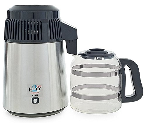 240v Water (240 Volt Stainless Steel Water Distiller with Best Quality Glass Carafe - With UK Plug, (Not to use in North America))