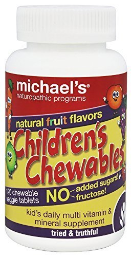 Chewable Fruit Flavor - Michael's Naturopathic Programs - Children's Chewables Daily Multi Vitamin Natural Fruit Flavor - 120 Chewable Tablets by Michael's Naturopathic Programs
