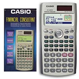 Casio Fc-200v Financial Calculator,4-line Display, Two Way Power