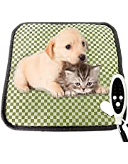 """Couvkadl Pet Heating Pad, Electric Heated Pad for Dogs and Cats Waterproof Warming Mat with Durable Anti-Bite Tube Indoor for Puppies Dogs Cats (18"""" X 18"""")"""