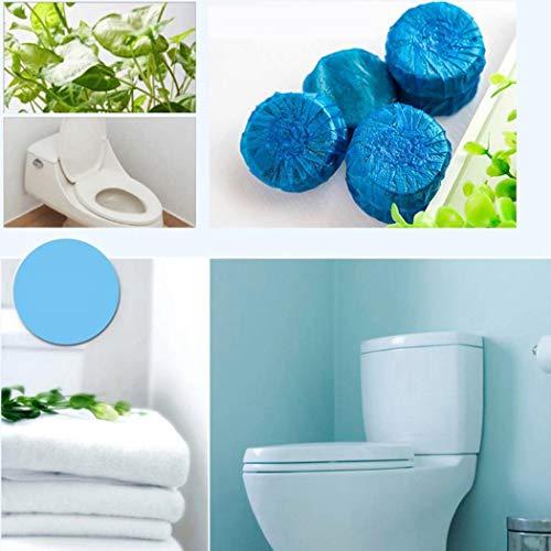 Erholi Disposable Flush Toilet Cleaner Fragrant Ball Blue Bubble Cleaning Tools Vehicles (Toilet Jado Nickel Brush)