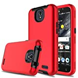 zte prelude 2 cell phone - Innens ZTE Maven 3 Case, ZTE Prestige 2 Case, 3-in-1 [TPU + Dual Layer PC] Shockproof Hybrid Rugged Protective Case For ZTE maven 3/Overture 3/Prelude plus/ZTE Prestige 2 N9136 (Red/Black)