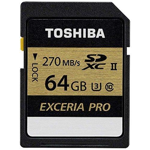 Toshiba Exceria Pro - N501 SD Memory Card UHS-II U3 Class 10 (OEM Pack) (64GB)