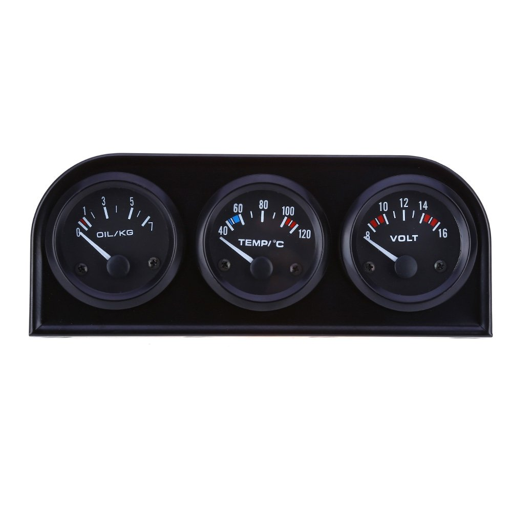 Flyes Digital LED Car Clock Thermometer Electronic Time Air Conditioning Vent Backlight Temperature Voltage Meter
