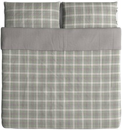 IKEA SISSELA Duvet Cover /& Pillow Cases White /& dark grey