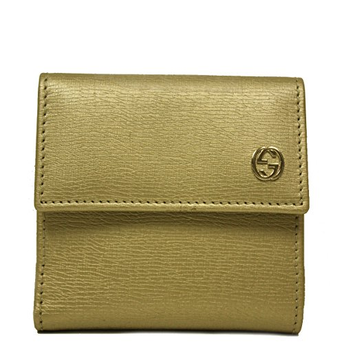 Gucci Gold Metallic Leather French Flap Wallet - Flap Wallet Gucci