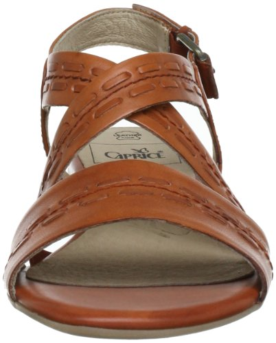 9 Sandals Orange 20 women Leather 28101 Caprice AxwfBqZB