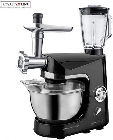 Black white-Robot de cocina amasador Mezclador para repostería Royalty Line negro: Amazon.es: Hogar