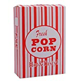 Bekith 100/Case Close-Top Popcorn Box, Red and White Stripes Classic Design