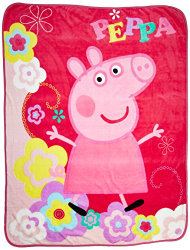 Find Cheap Entertainment One Peppa Pig Peppa's Picnic Micro Raschel Throw, 46 x 60