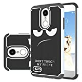 lg 2 cases - LG Aristo 2 Case, LG Tribute Dynasty/LG Zone 4/LG Fortune 2/LG K8 2018/LG K8+/LG Risio 3/LG Rebel 3 LTE Case, LEEGU Dual Layer Heavy Duty Protective Silicone Plastic Cover Case - Don't Touch My Phone