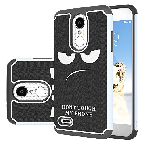 Price comparison product image LG Aristo 2 Case, LG Tribute Dynasty/Zone 4/Fortune 2/K8 2018/K8+/K8 Plus/Risio 3/Rebel 3 LTE/Aristo 2 Plus Case, LEEGU Dual Layer Heavy Duty Protective Silicone Plastic Case- Don't Touch My Phone