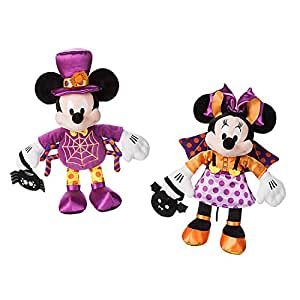 Mickey Mouse and Minnie Mouse Halloween Plush