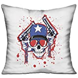 Skull Skeleton Guns Pillowcase Cool