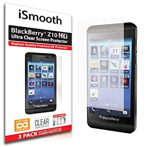 iSmooth Blackberry Z10 Ultra Clear Premium HD Screen Protector 3 Pack