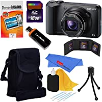 Sony Cyber-shot DSC-H90 16.1 MP Digital Camera with 16x Optical Zoom and 3.0-inch LCD (Black) + 8pc Bundle 16GB Accessory Kit Overview Review Image