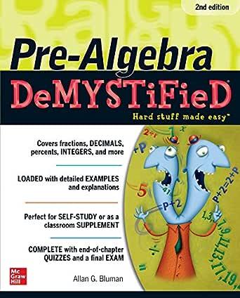 Pre-Algebra DeMYSTiFieD, Second Edition (English Edition) eBook ...