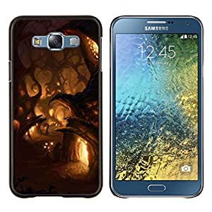 LECELL--Funda protectora / Cubierta / Piel For Samsung Galaxy E7 E700 -- Luces de la noche de cuento de hadas de hadas Pueblo --