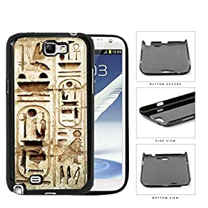 Egyptian Ancient Wall Hieroglyphics Hard Plastic Snap On Cell Phone Case Samsung Galaxy Note 2 II N7100
