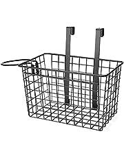 SortWise ® Over Cabinet Door Kitchen Storage Organizer Basket, Bathroom Door Organizer with Hair Dryer Holder