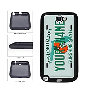 Personalized Custom Florida License Plate TPU RUBBER SILICONE Phone Case Back Cover Samsung Galaxy Note II 2 N7100