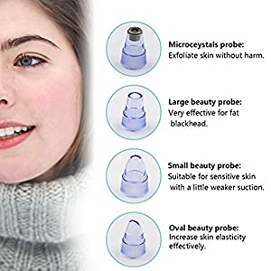 Facial Blackhead Pore Cleaner Remover Vacuum Suction , Electric Facial Pore Cleanser Spot Acne Oil Nose Blackhead Remover Utilizes Pore Vacuum Extraction