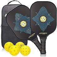 Pickleball Paddle Graphite, Pickleball Racket Carbon Fiber Face, Cushion Comfort Light Weight Pickleball Paddl
