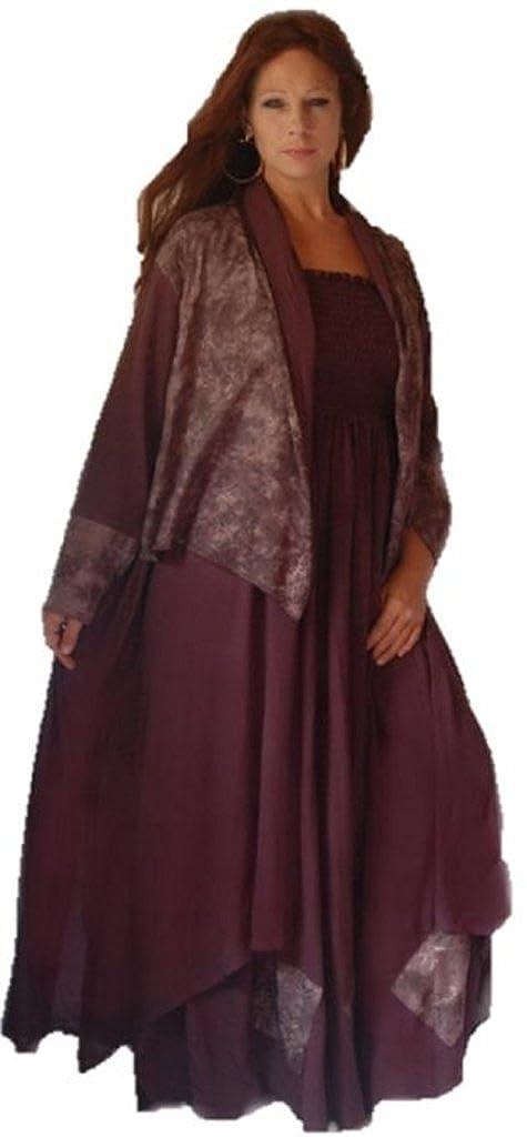 LOTUSTRADERS Womens Boho Maxi Dress Set Long Jacket F412