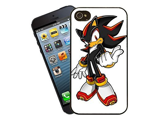 Shadow from Sonic the Hedgehog iPhone case - This cover will fit Apple model 4 and 4s - By Eclipse Gift Ideas by Eclipse Gift Ideas