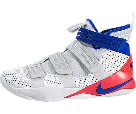 online store 15ac2 d8d66 Nike Mens Lebron Soldier XI SFG Basketball Shoes (10 D (M) US,  White/Infrared/Pure Platinum/Racer Blue)