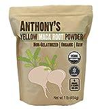 Anthony's Organic Yellow Maca Powder 1lb, Raw, Gluten-Free & Non-GMO (Non-Gelatinized)