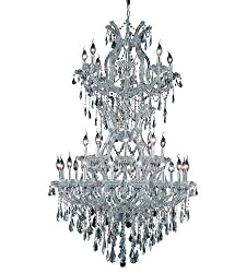 Chandeliers Light With Clear Crystal