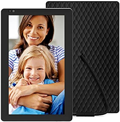 Nixplay Seed WiFi 10.1 Inch Digital Picture Frame with IPS Display, iPhone & Android App, Free 10GB Online Storage and Motion Sensor (Black) - W10B