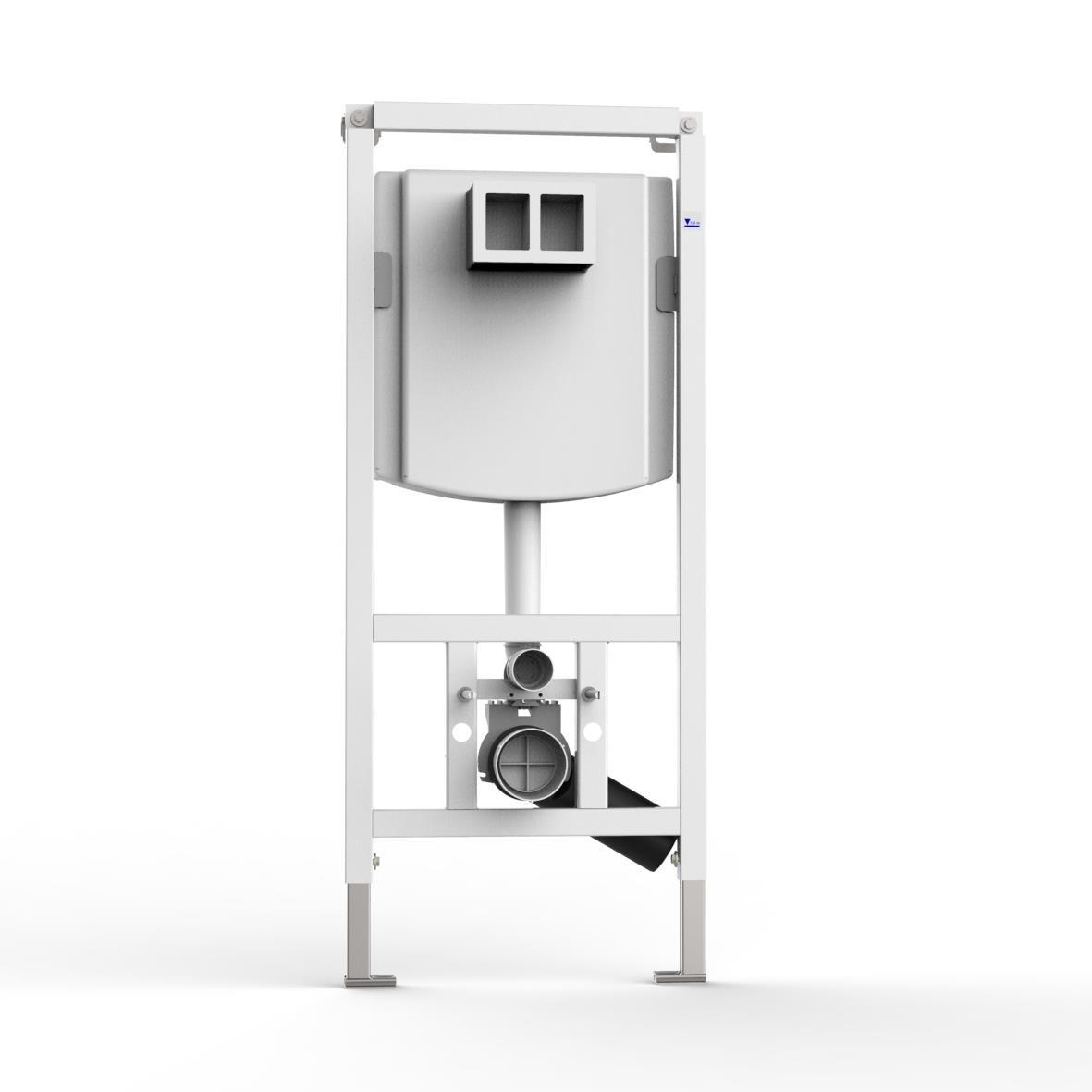 WC-Element VIS f.Trockenbau m.UP-Spü lkasten 7.5l BH:1185mm GC-Group
